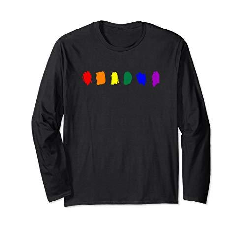 Minimal LGBT Pride Flag Strokes Long Sleeve T-Shirt
