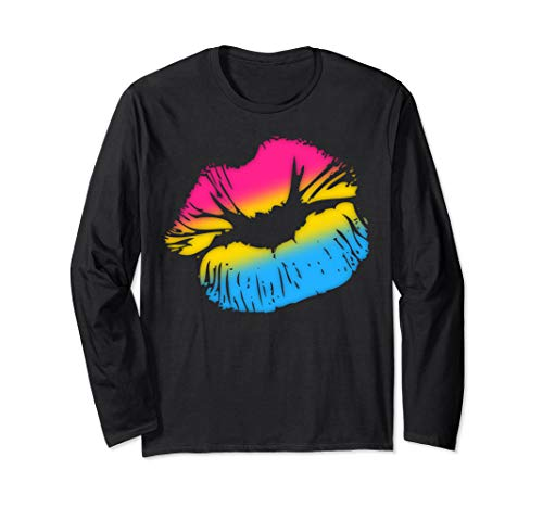 Pansexual Pride Big Kissing Lips Long Sleeve T-Shirt