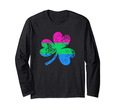 Polysexual Shamrock Pride Flag Long Sleeve T-Shirt