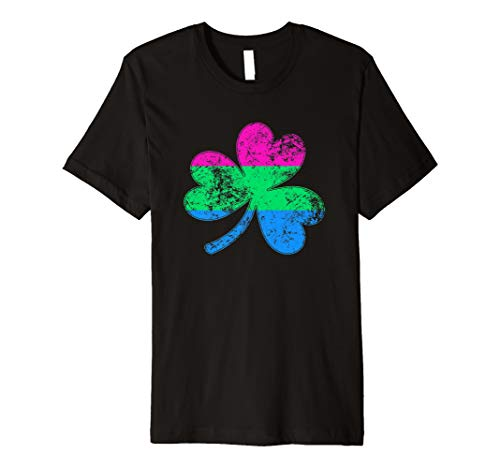 Polysexual Shamrock Pride Flag Premium T-Shirt