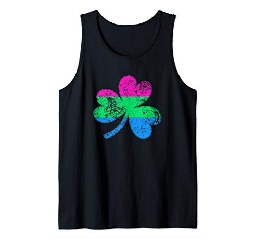 Polysexual Shamrock Pride Flag Tank Top
