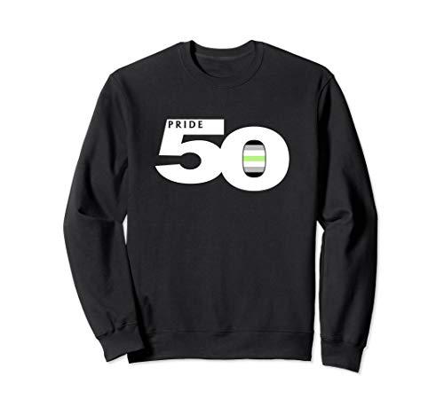 Pride 50 Agender Pride Flag Sweatshirt