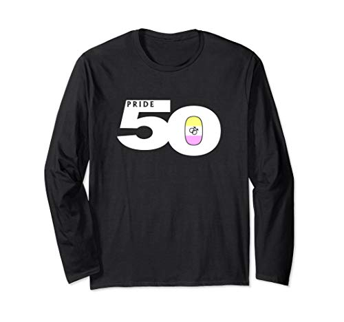 Pride 50 Gay Twink Pride Flag Long Sleeve T-Shirt