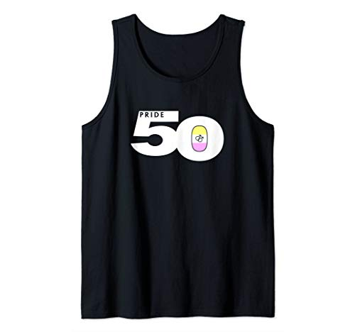 Pride 50 Gay Twink Pride Flag Tank Top