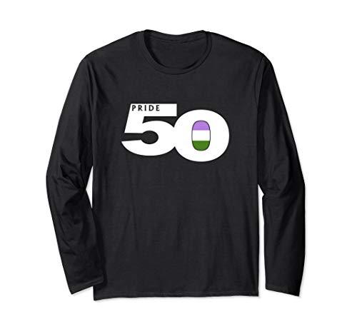 Pride 50 Genderqueer Pride Flag Long Sleeve T-Shirt