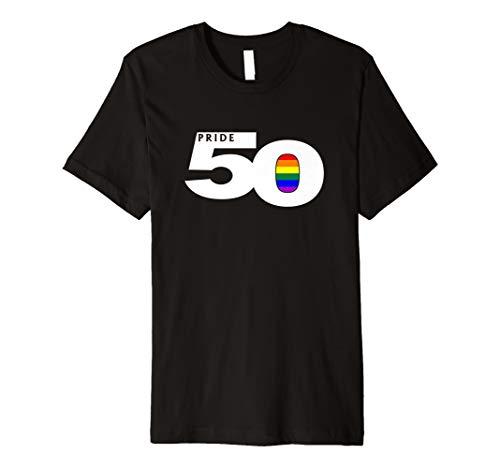 Pride 50 LGBTQ Gay Pride Flag Premium T-Shirt