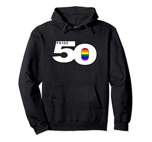 Pride 50 LGBTQ Gay Pride Flag Pullover Hoodie