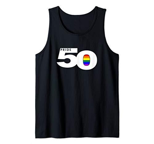 Pride 50 LGBTQ Gay Pride Flag Tank Top