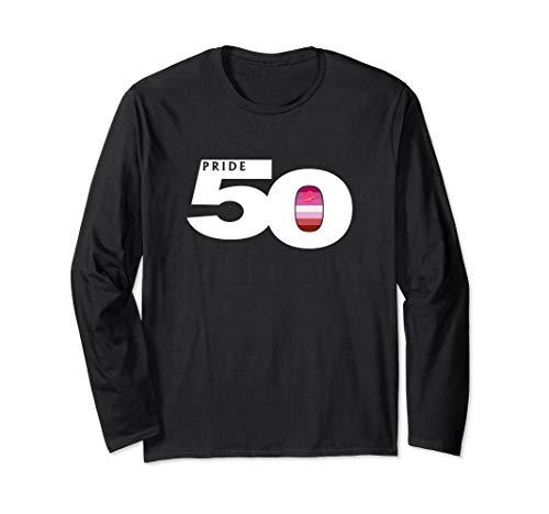 Pride 50 Lipstick Lesbian Pride Flag Long Sleeve T-Shirt