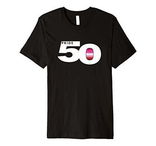 Pride 50 Lipstick Lesbian Pride Flag Premium T-Shirt