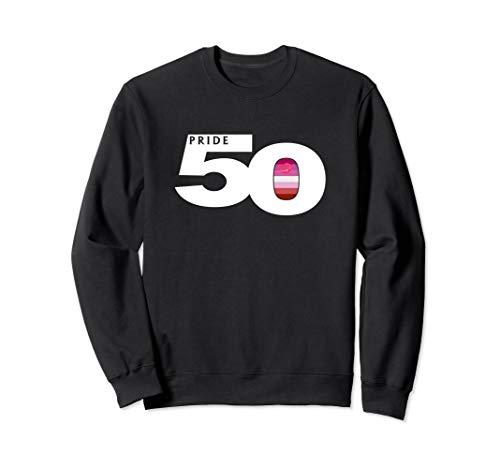 Pride 50 Lipstick Lesbian Pride Flag Sweatshirt