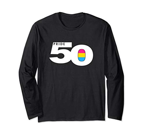 Pride 50 Pansexual Pride Flag Long Sleeve T-Shirt