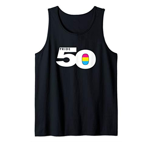Pride 50 Pansexual Pride Flag Tank Top
