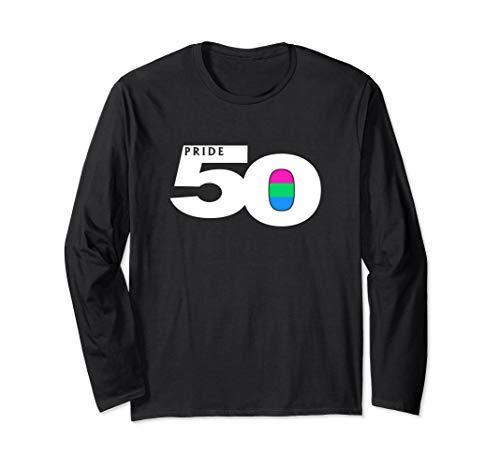 Pride 50 Polysexual Pride Flag Long Sleeve T-Shirt