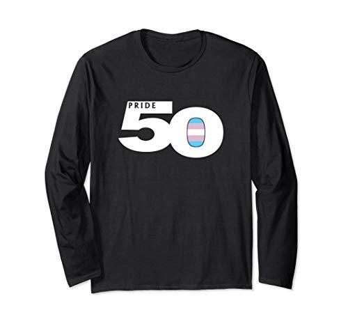 Pride 50 Transgender Pride Flag Long Sleeve T-Shirt