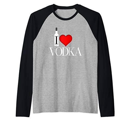 I Heart Vodka Raglan Baseball Tee