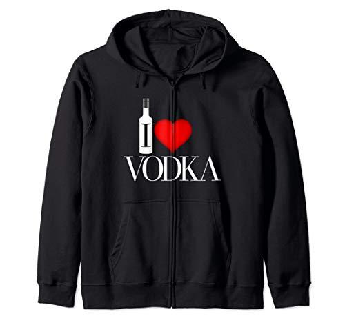 I Heart Vodka Zip Hoodie