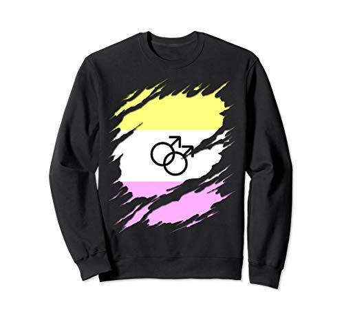 Gay Twink Pride Ripped Reveal Sweatshirt