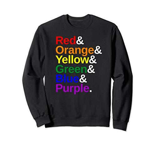 LGBTQ Pride Flag Color List Sweatshirt