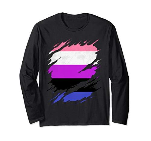 Genderfluid Pride Ripped Reveal Long Sleeve T-Shirt