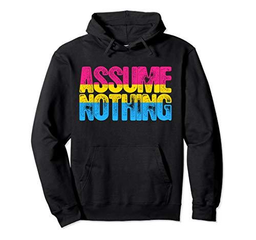 Assume Nothing Pansexual Pride Pullover Hoodie