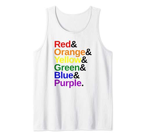 LGBTQ Pride Flag Color List Tank Top