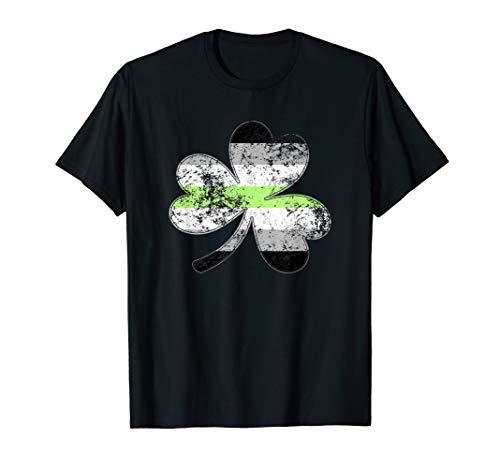 Agender Shamrock Pride Flag T-Shirt
