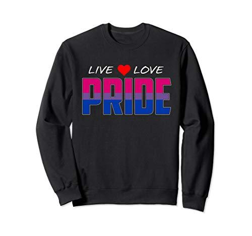Live Love Pride - Bisexual Pride Flag Sweatshirt