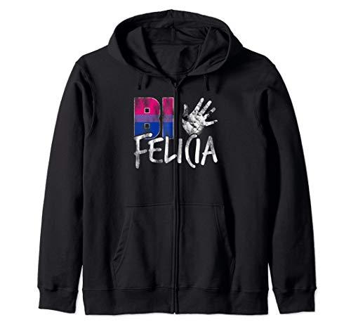 Bi Felicia Funny Bisexual Pride Flag Zip Hoodie