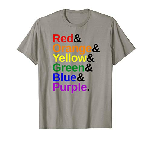 LGBTQ Pride Flag Color List T-Shirt