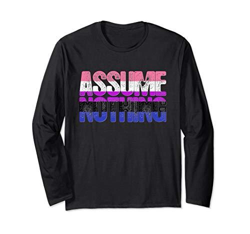 Assume Nothing Genderfluid Pride Long Sleeve T-Shirt