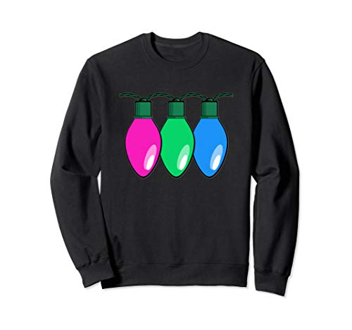 Polysexual Pride Flag Christmas Lights Sweatshirt