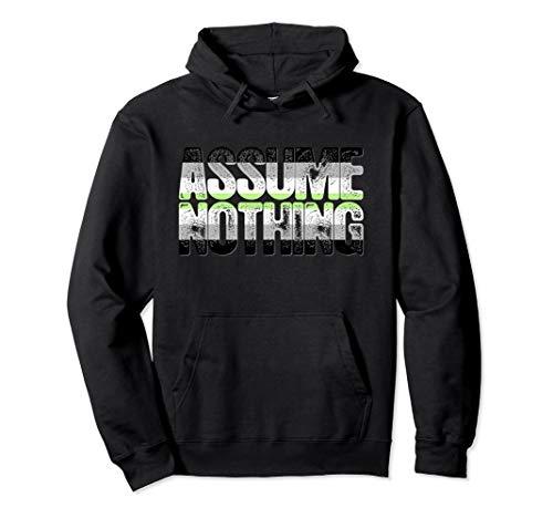 Assume Nothing Agender Pride Pullover Hoodie