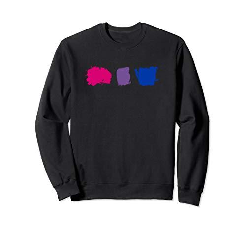 Minimal Bisexual Pride Flag Stroke Sweatshirt