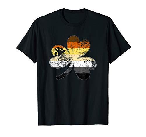 Gay Bear Shamrock Pride Flag T-Shirt