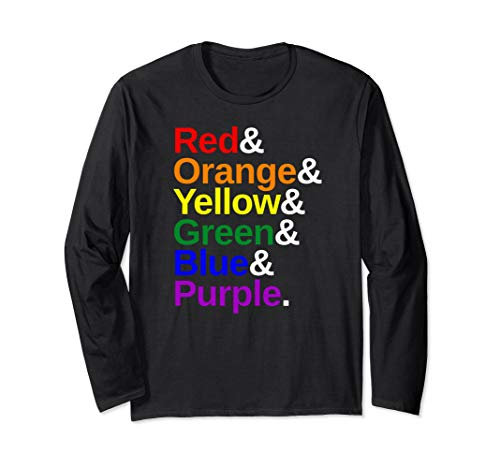LGBTQ Pride Flag Color List Long Sleeve T-Shirt