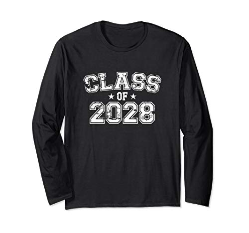 Distressed Class of 2028 Long Sleeve T-Shirt