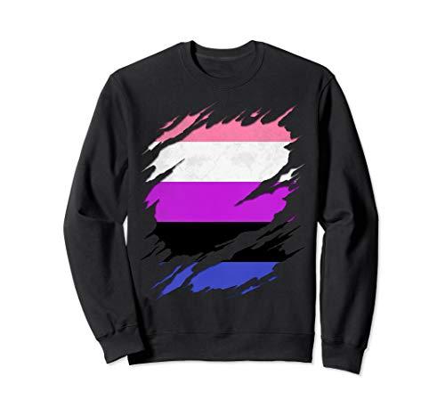 Genderfluid Pride Ripped Reveal Sweatshirt