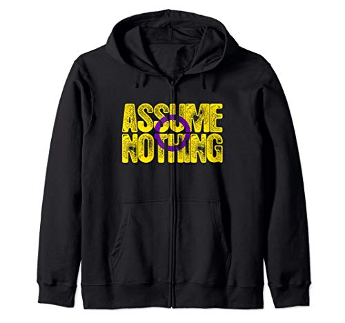 Assume Nothing Intersex Pride Zip Hoodie