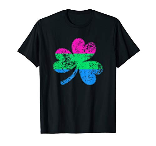 Polysexual Shamrock Pride Flag T-Shirt