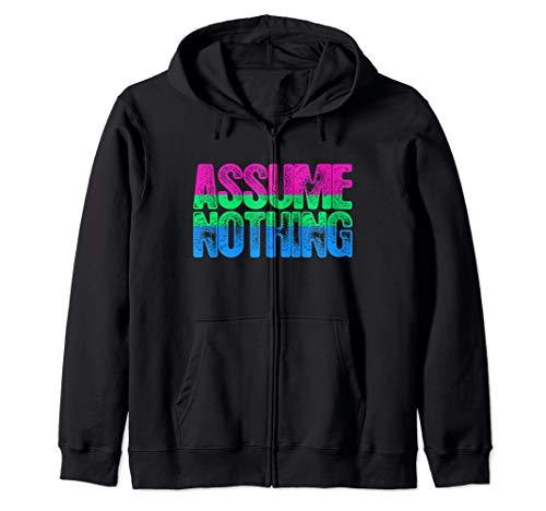Assume Nothing Polysexual Pride Zip Hoodie