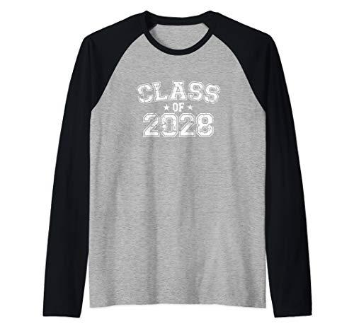 Distressed Class of 2028 Raglan Baseball Tee