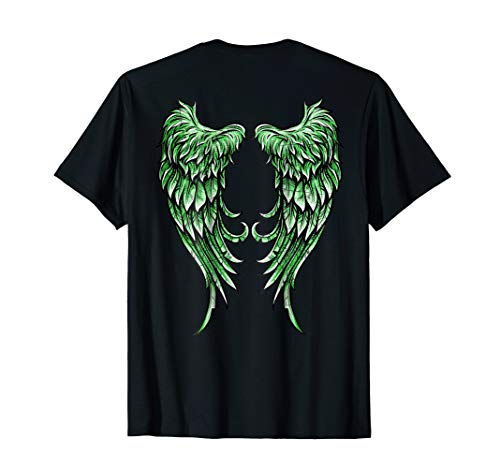 Distressed Green Angel Wings T-Shirt