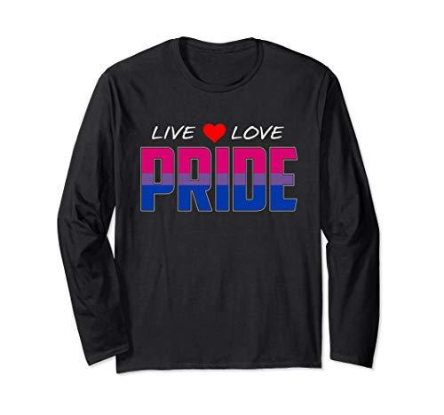 Live Love Pride - Bisexual Pride Flag Long Sleeve T-Shirt