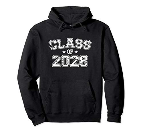 Distressed Class of 2028 Pullover Hoodie