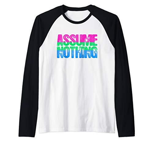 Assume Nothing Polysexual Pride Raglan Baseball Tee