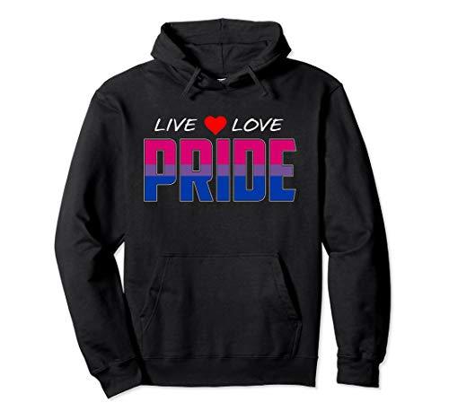 Live Love Pride - Bisexual Pride Flag Pullover Hoodie