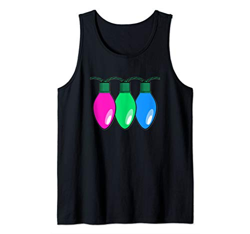 Polysexual Pride Flag Christmas Lights Tank Top