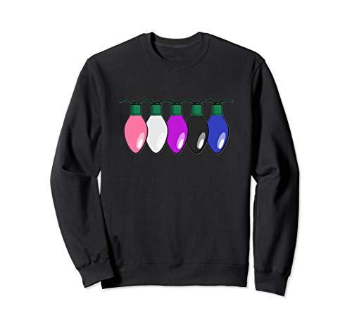 Genderfluid Pride Flag Christmas Lights Sweatshirt