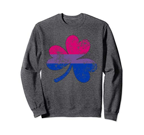 Distressed Bisexual Pride Shamrock Sweatshirt